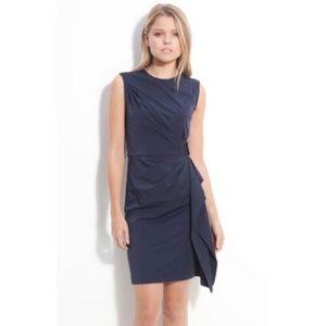 Diane Von Furstenberg navy Stretch dress sz 4